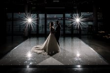 Beautiful White Starlit Dancefloor for the perfect first dance!